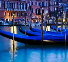 Gondolas in The Grand Canal - Venice Italy by Yen Baet