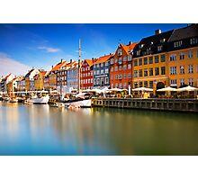 Nyhavn Harbour - Copenhagen, Denmark Photographic Print