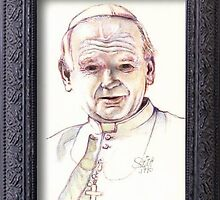 Pope John Paul 11 by Jerry  Stith