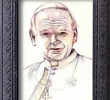 Pope John Paul 11 by Jerry  Stith