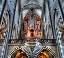 Pipe Organ - St. James Cathedral, Rothenburg ob der Tauber. by Luke Griffin
