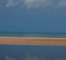 Cloud Reflection on The Great Ocean Road by JanBenjafield