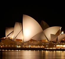 Sydney Opera House at Night by JanBenjafield