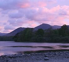 Dusk on Derwentwater, Lake District, Cumbria by Peter  Thomas