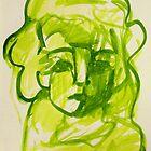 Woman Lit in Lime by Maya Hiort Petersen