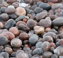 Frozen Lake Superior Pebbles by cjbenck