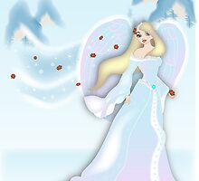 Snow Angel - White by Lauren Eldridge-Murray