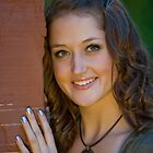 Michelle by the Stone Wall by Ken Fortie