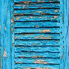 Old Blue Shutter II by physiognomic
