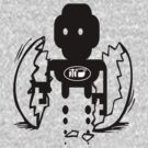 usa scifi tshirt with robot and egg by ian rogers by usascifi