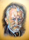 Sketch of Tchaikovsky by Hidemi Tada