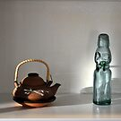 Japanese Tea Pot and Soda Bottle by Shelby  Stalnaker Bortone