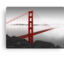 Golden Gate Bridge (Vectorillustration) Canvas Print