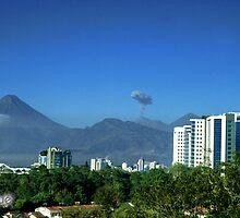 Volcano Agua, Acatenango and Fuego by Miguel Avila