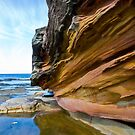 Sandstone at Dee Why Beach by Sheila  Smart