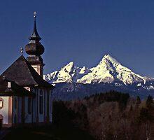 Maria Gern Chapel - Bavaria Germany #2 by David J Dionne