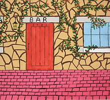 Red Door Bar by JeffreyKoss