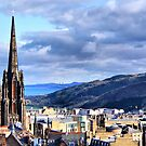 Rooftops of Edinburgh by Sandra Cockayne