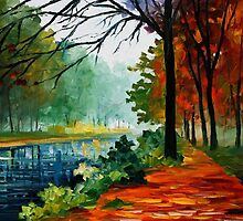 River Of Life - original oil painting on canvas by Leonid Afremov by Leonid  Afremov