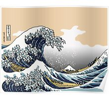 The Great Wave Off Katagawa Poster