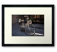 cityscapes #178, bike baskets   Framed Print