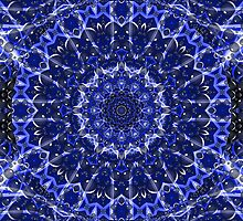 Electric Blue Mandala by SgtSciFI