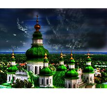 Domes of Trinity Cathedral Photographic Print