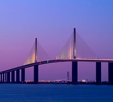 """Sunshine Skyway Bridge"" - bridge over Tampa Bay by John Hartung"