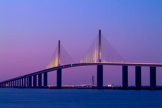 """Sunshine Skyway Bridge"" - bridge over Tampa Bay by John Hartung"