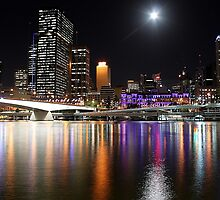 Brisbane  City By Night by Tanya Small