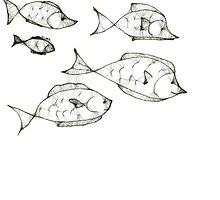 Fish Scribble by Betty Mackey