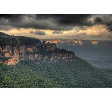 Icons - Jamison Valley, Katoomba Blue Mountains World Heritage Area - The HDR Experience Photographic Print