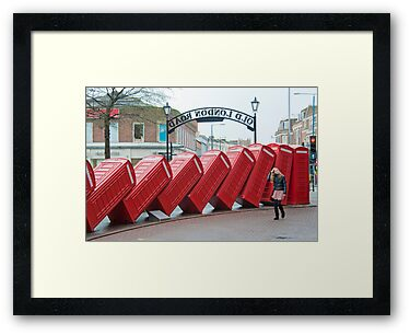 Lean on Me: Telephone Boxes: Kingston, UK. by DonDavisUK