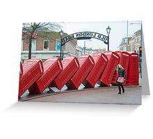 Lean on Me: Telephone Boxes: Kingston, UK. Greeting Card