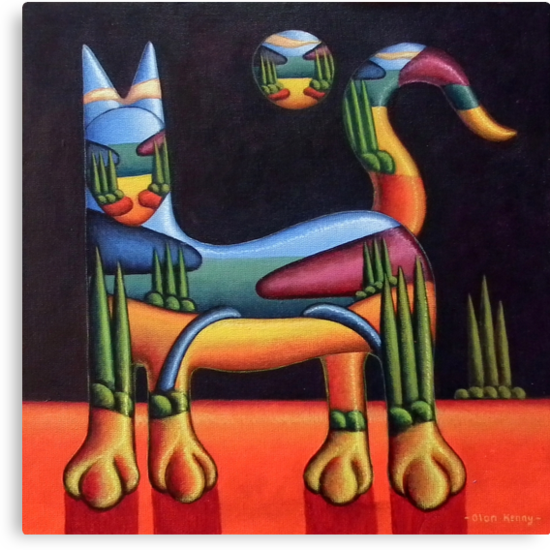 cat in landscape in cat by Alan Kenny