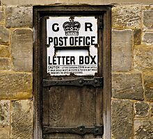 Wooden Letter Box, Sussex, UK. by David A. L. Davies