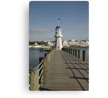 WDW Beach & Yacht Club Pier & Lighthouse Canvas Print