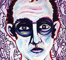 'Portrait of Keith Haring' by Jerry Kirk