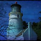 Lighthouse with Blue Moon by aussiedi