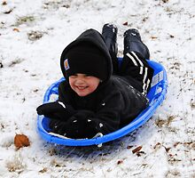 """First Sled Ride"" by Doyle  McClung"