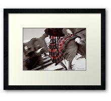 Elegant spanish swirl Framed Print