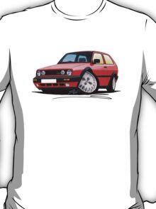 VW Golf GTi (Mk2) Red T-Shirt