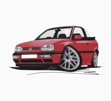 VW Golf (Mk3) Cabriolet Red by Richard Yeomans