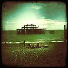 Brighton West Pier by Celia Strainge