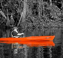 Red Kayak on the Black River by imagetj