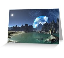 Earth-rise from an Alien Shore Greeting Card