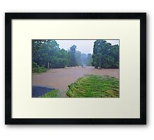 Cedar Creek, 100 Metres From Our Home. Brisbane Floods January 2011, Queensland, Australia.  Framed Print