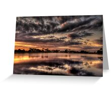 Sundusk over Punta Gorda, FL Greeting Card