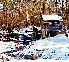 Old Grist Mill in Clarkesville by Chelei