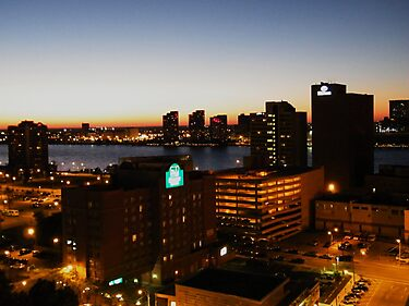 Windsor/Detroit Skyline at Sunset II by Graham Beatty